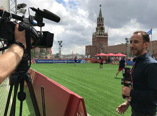 Lavinia, al Mundial de Futbol des del centre de Moscou