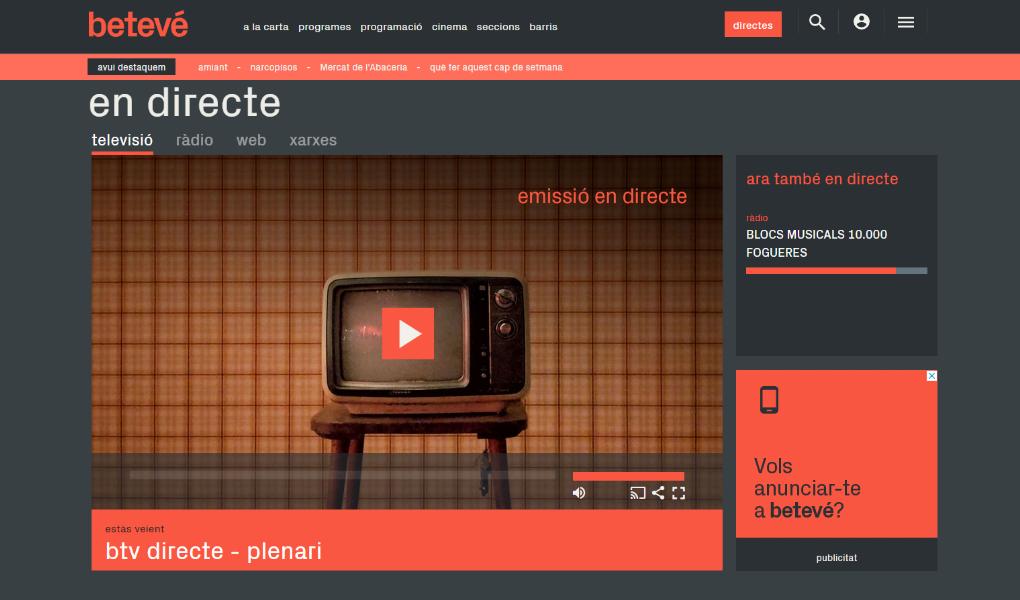 Lavinia integra la nova plataforma de vídeo online al web de betevé