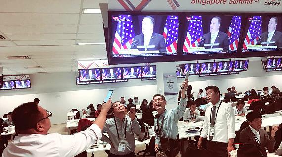 Lavinia at the summit between Trump and Kim Jong-un